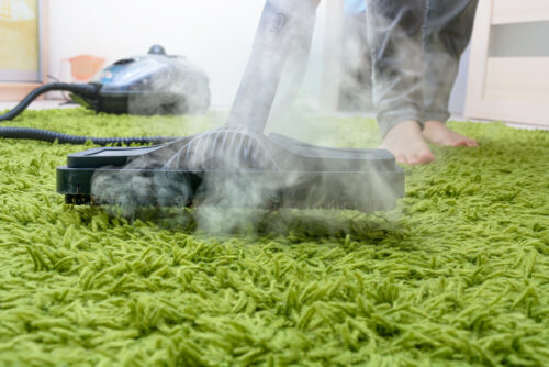 green carpet cleaning by steam