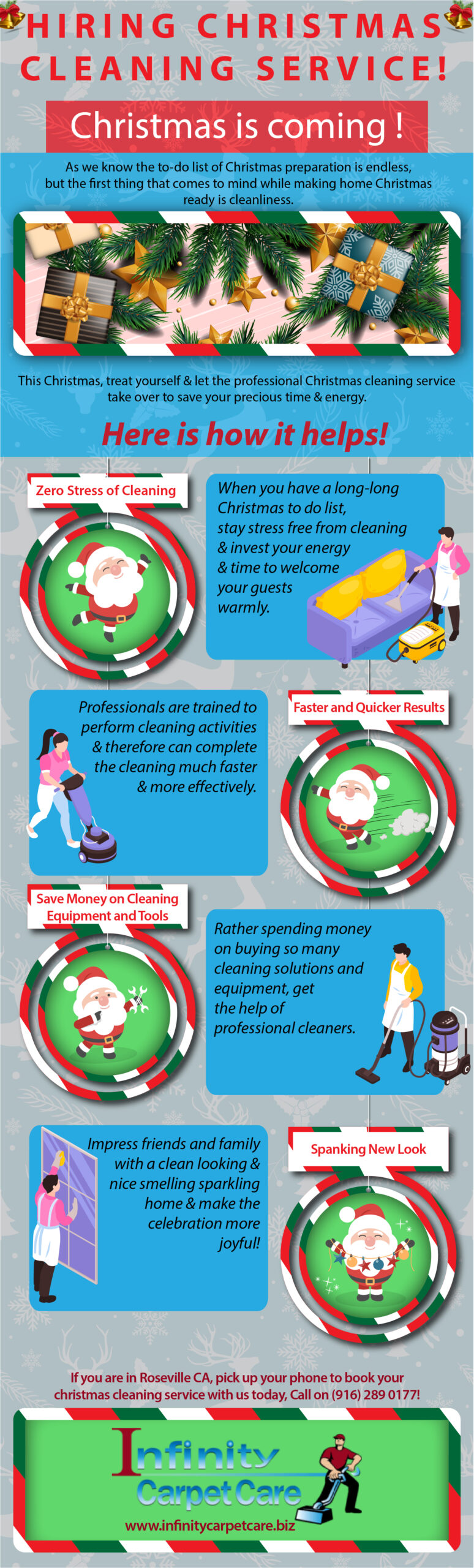 Christmas Cleaning Service Roseville CA