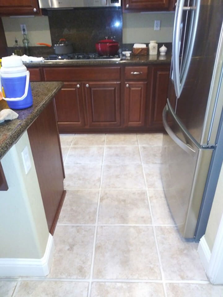 After Tile & Grout Cleaning & Repair
