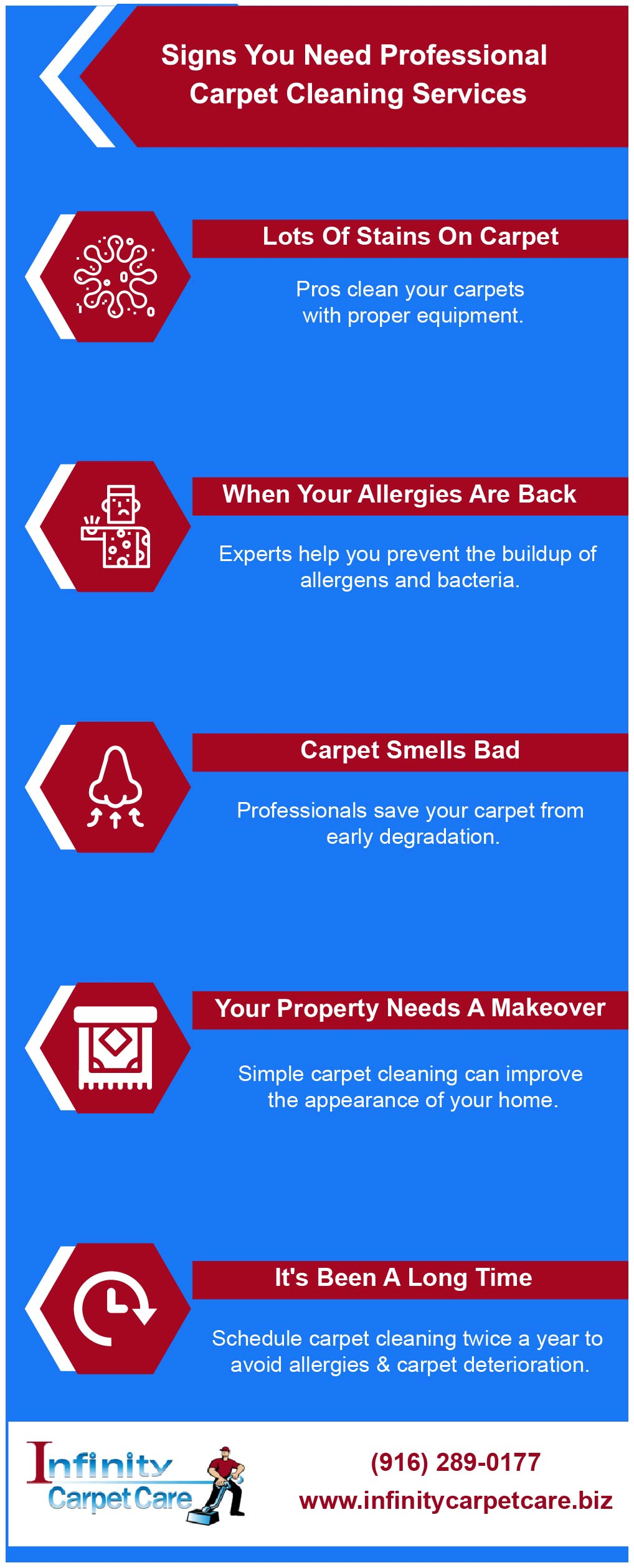 Signs You Need Professional Carpet Cleaning Services [Infographic]
